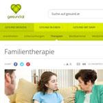 Artikel von gesund.at zum Thema Familientherapie (systemische Therapie)