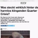 Thumbnail VICE Article: was steckt hinter der Quarter-Life Crisis